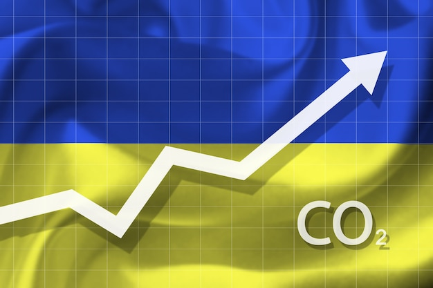 Graph of rising carbon dioxide level in ukraine