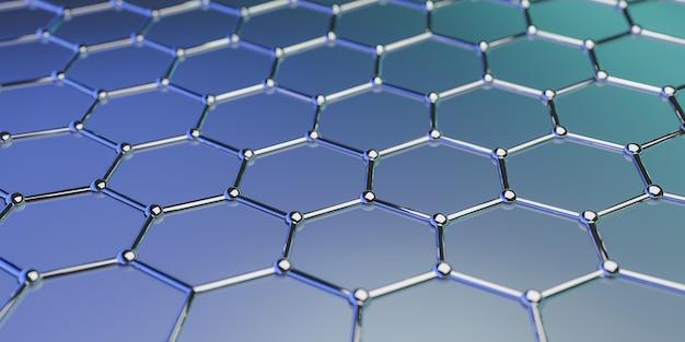 Graphene molecular nano technology structure onblue  ing