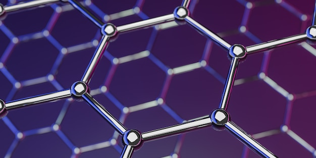 Graphene molecular nano technology structure on purple