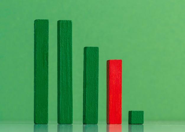 グラフィックコンセプトの木製ブロックの配置