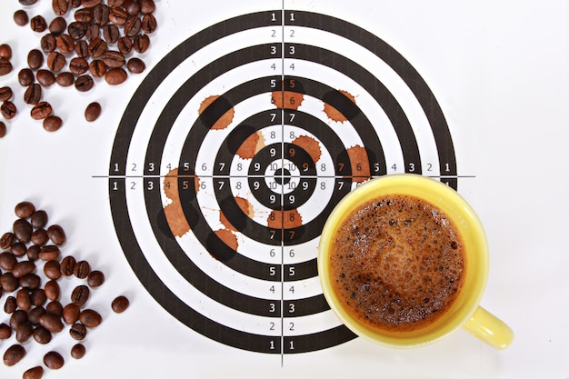 Graphic design of coffee beans