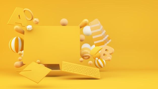 그래픽 디자인 컨셉 3d 렌더링