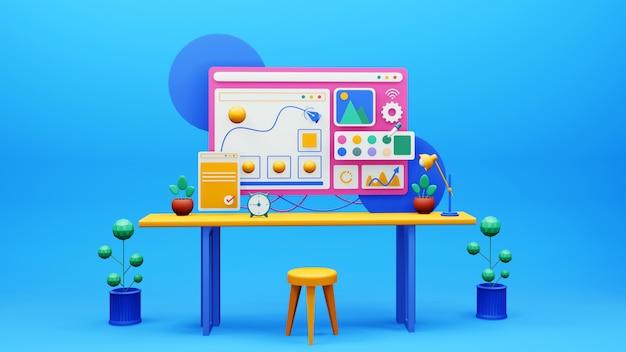 アプリケーションとツールを使用したグラフィックデザインwebサイト