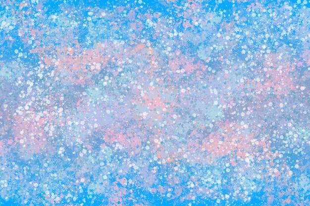 Графическая иллюстрация динамической текстуры краски в зимних пастельных тонах
