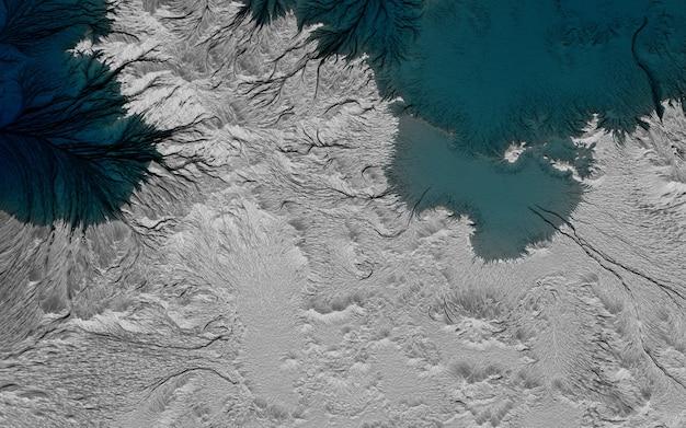 Графический пейзаж, случайное изображение островов в океане