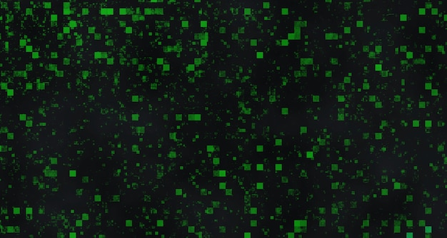 Graphic texture with green square shapes on a black background - perfect for a cool wallpaper