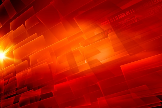Graphical abstract digital red theme background
