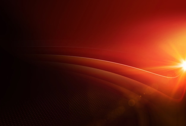 Graphical abstract red theme background with lens flare at right edge