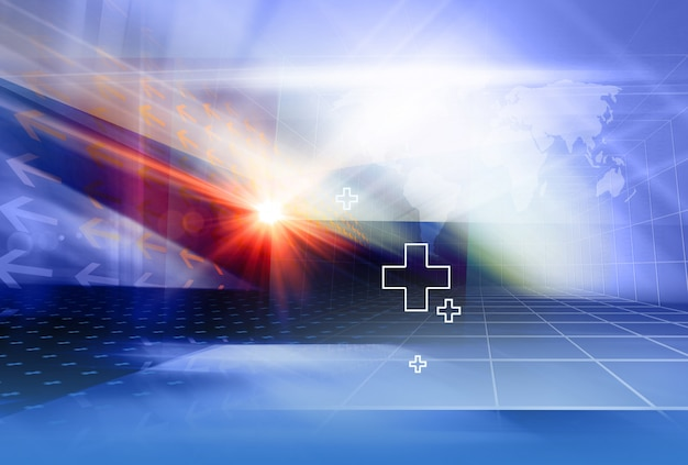 Graphical geometric medical backdrop