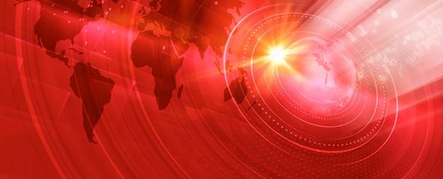 그래픽 현대 디지털 세계 배너