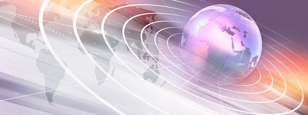 Graphical modern digital world news background