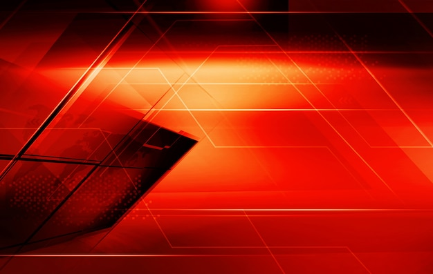 Graphical red theme abstract background with highlighted edge lines