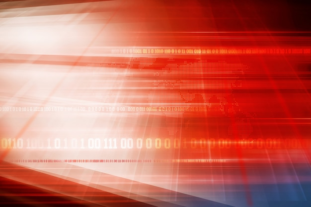 Graphical red theme breaking news background