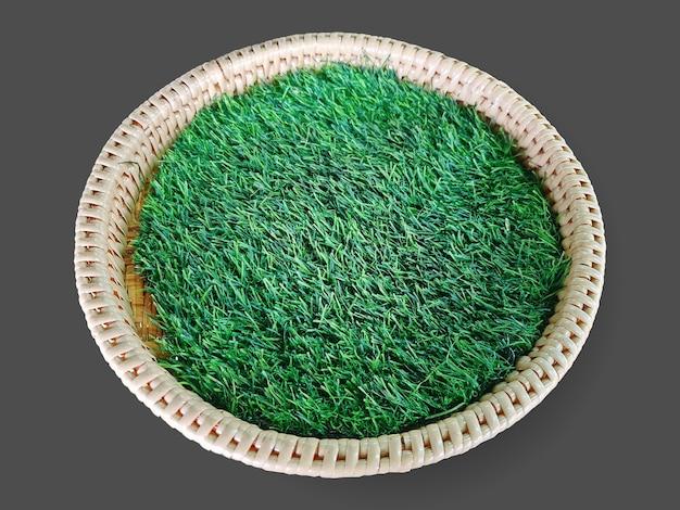 Трава в корзине