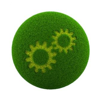 Значок настройки травы сфера