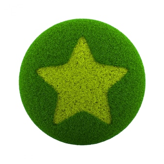 Иконка звезда трава сфера