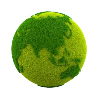 Grass world planet, asia and australia