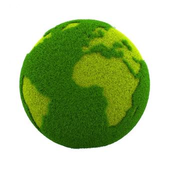 Grass world planet