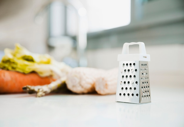 Grater and food