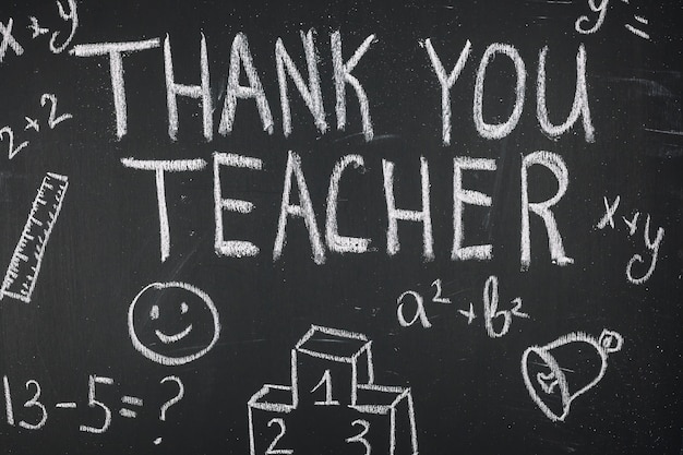Gratitude saying thank you teacher