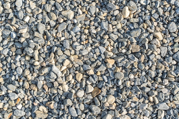 Gravel texture or gravel background for design. top view of rubble pile.