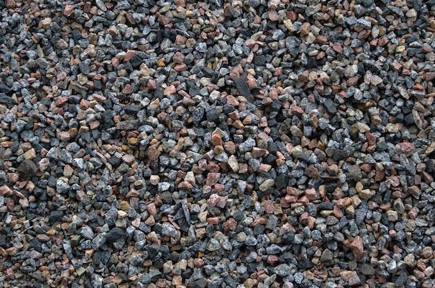 Таблица текстуры гравия. мелкие гравийные камни вид сверху