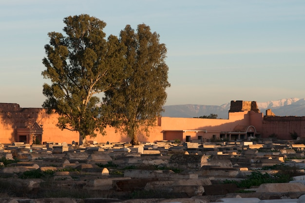 Graves at jewish cemetery, miaara, mellah, medina, marrakesh, morocco