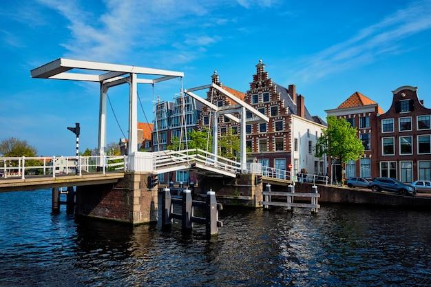 Gravestenenbrug bridge in haarlem, netherlands Premium Photo