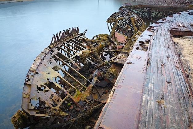 北極圏を越えた北にある船の墓場。