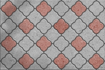 Gray and Brown Pavement flower shape