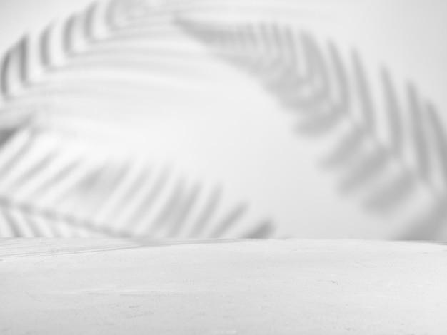 자연스러운 그림자가있는 제품 프레젠테이션을위한 회색 배경
