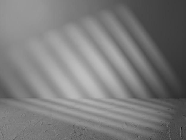 光線による製品プレゼンテーションの灰色の背景