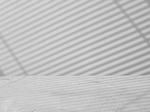 그림자와 빛의 줄무늬가 있는 제품 프레젠테이션을 위한 회색 배경