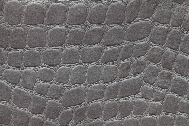 Gray background from soft upholstery textile material, closeup. fabric with pattern