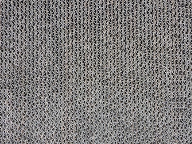 패턴 골판지 필터의 회색 배경