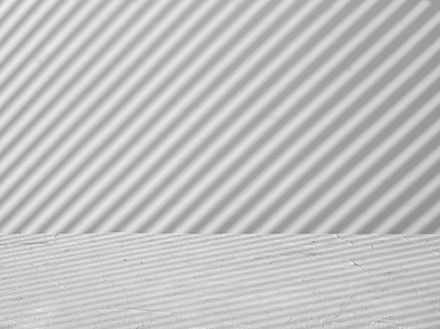 Gray background for product presentation with stripes of light and shadow
