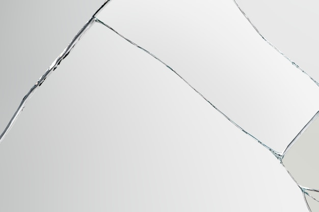 Gray background with cracked glass texture