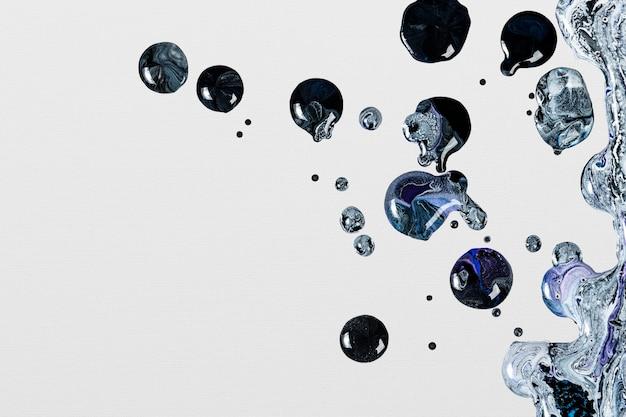 Sfondo di marmo liquido grigio e nero fai da te astratto che scorre texture arte sperimentale