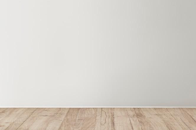 나무 바닥과 회색 빈 콘크리트 벽 모형