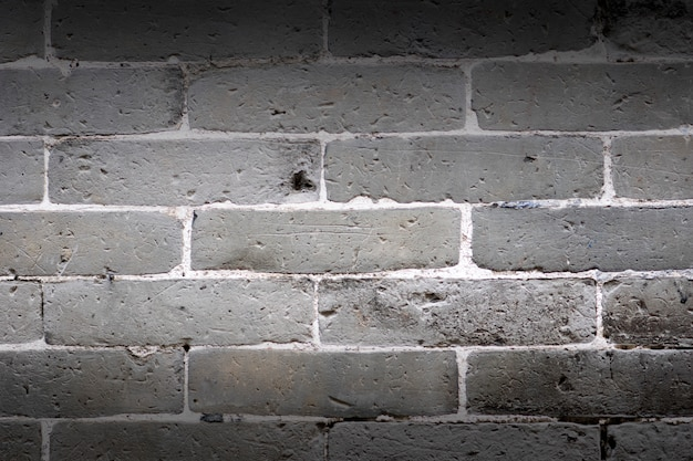 Gray brick wall texture and background.