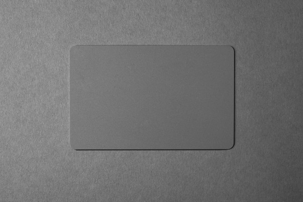 Серая визитная карточка на сером.