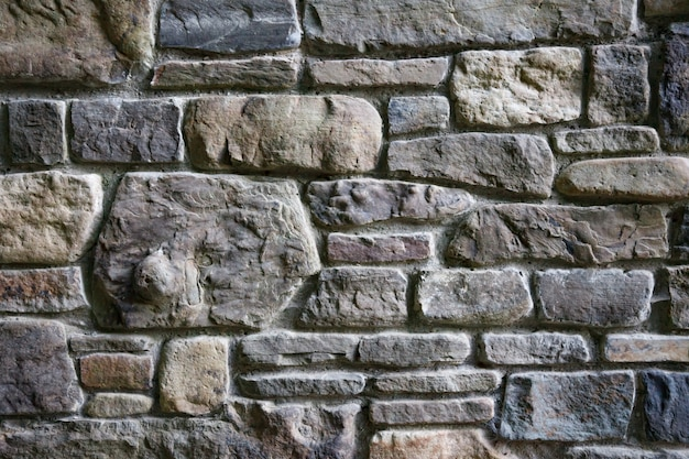 Gray color of modern style design decorative uneven cracked real stone wall surface with cement background
