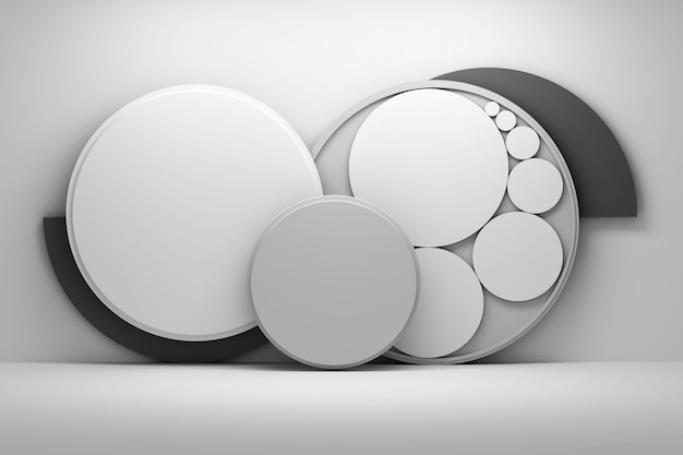 Gray composition with circles