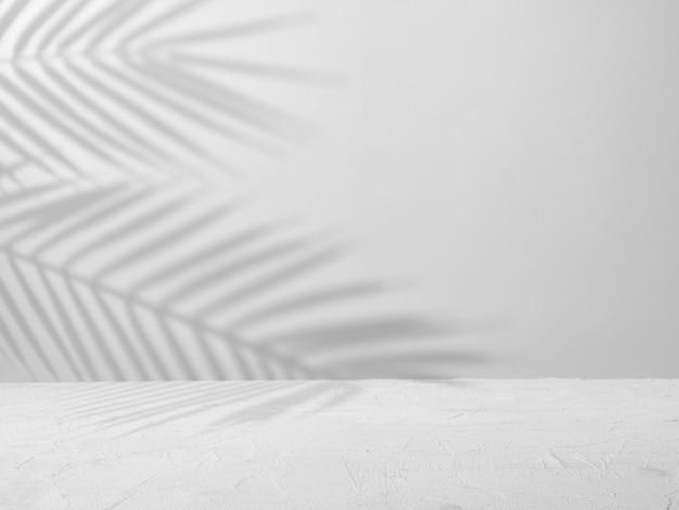 자연스러운 그림자가 있는 제품 프레젠테이션을 위한 회색 콘크리트 배경