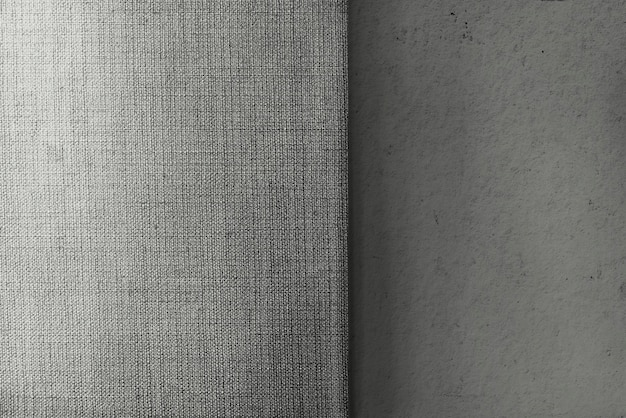 Gray concrete and canvas fabric textured background