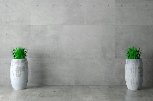 Серая бетонная стена монолитная
