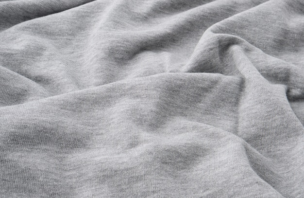 Gray cotton stretch fabric for sewing clothes, canvas with waves
