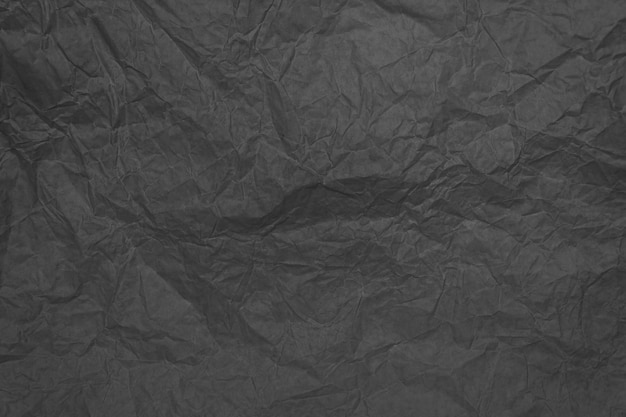 Gray crumpled sheet of paper