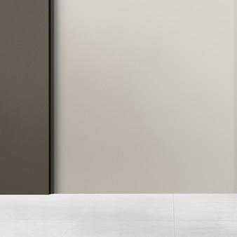 Gray empty room authentic interior design
