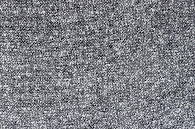 灰色の生地のクローズアップ